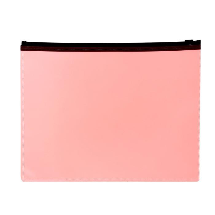 Папка-конверт на молнии ZIP А5 150мкм Calligrata оранжевый неон