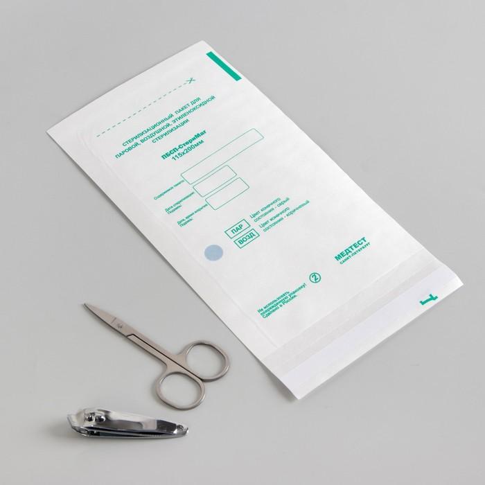 Пакет для стерилизации, влагопрочный, 115 ? 200 мм, цвет белый