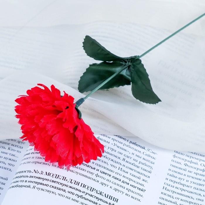 """Цветы искусственные """"Гвоздика 25 см, красная"""