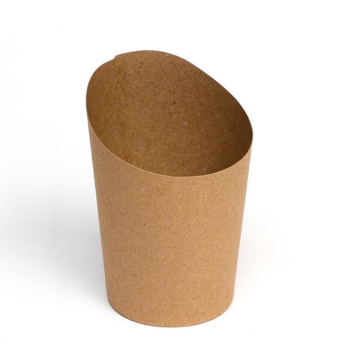 Упаковка для картофеля фри, крафт, 11 х 8 х 6 см