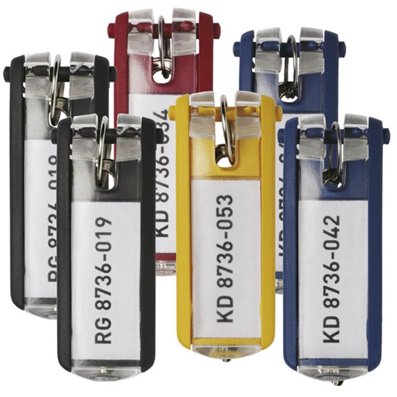 Набор брелоков для ключей Durable, 68*25мм, 6шт., ассорти