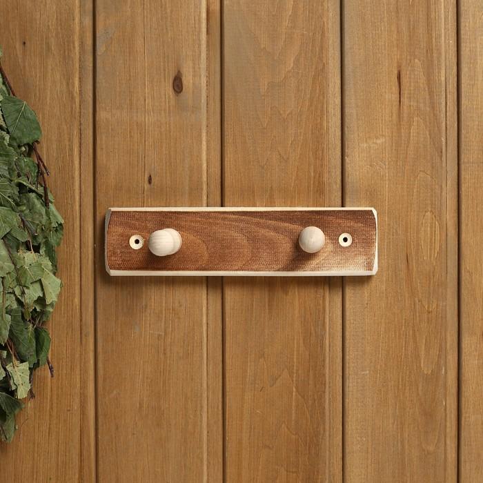 """Вешалка деревянная, 2 крепления """"Термо"""""""