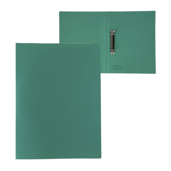 Папка на 2 кольцах А4, Calligrata, 18 мм, 500 мкм, зеленая