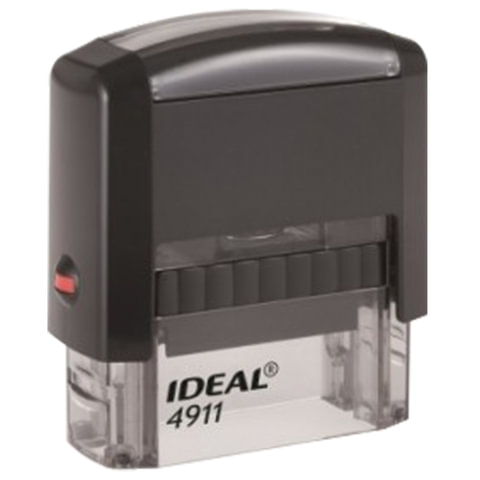 Оснастка для штампа, размер оттиска 38х14 мм синий, TRODAT IDEAL 4911 P2, подушка в комплекте, 125417