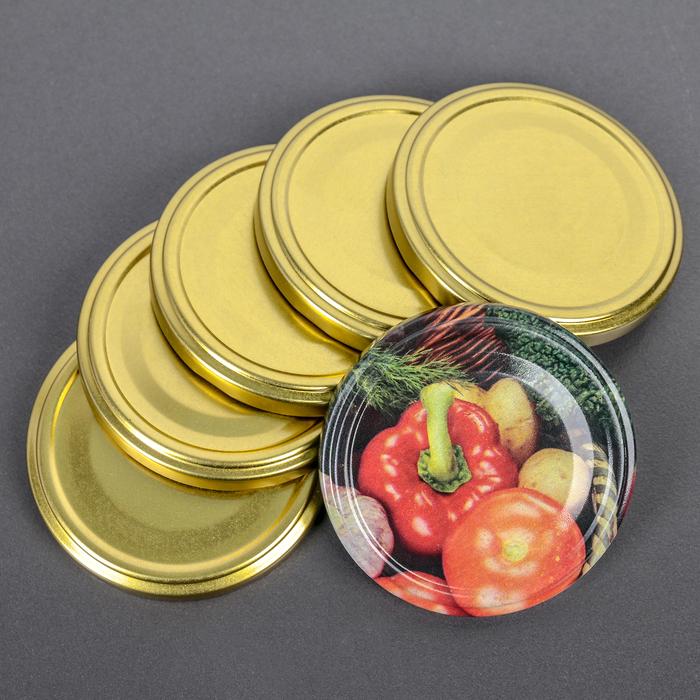 Крышкa для консервировaния «aссорти», ТО-82 мм, винтовaя, лaкировaннaя, упaковкa 20 шт, цвет золотой