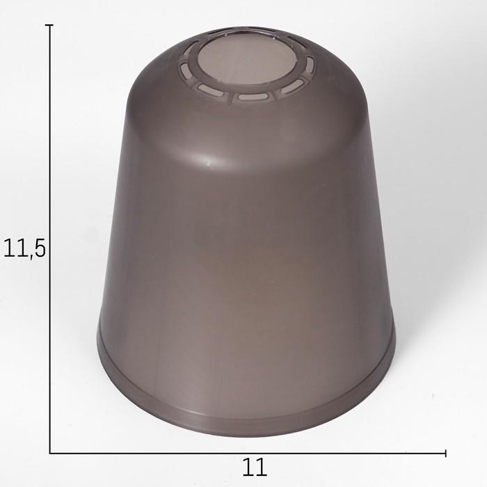 "Плафон универсальный ""Цилиндр""  Е14/Е27 дымчатый 11х11х12см"