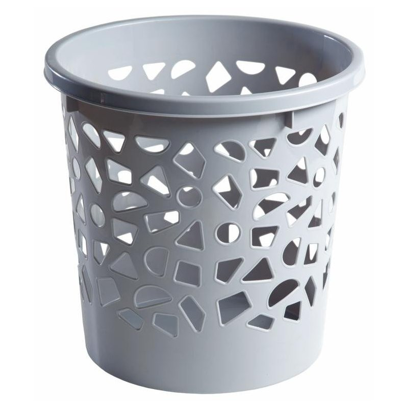 Корзина для мусора 10л пластик, с держателем