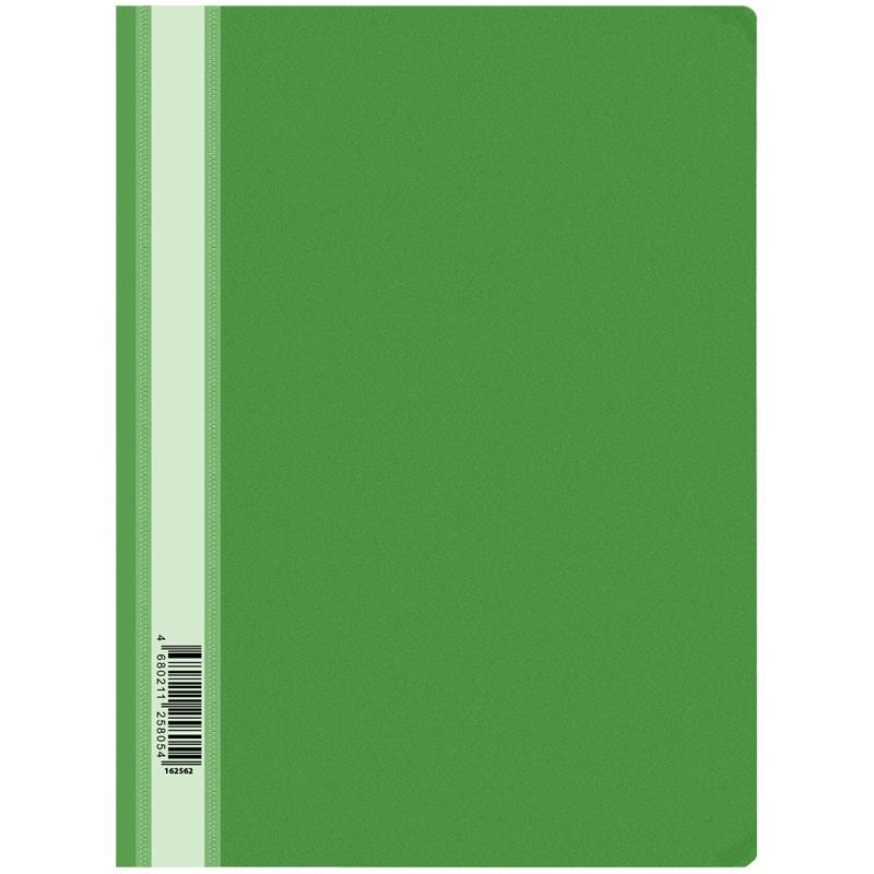 Папка-скоросшиватель пластик. OfficeSpace, А4, 160мкм, зеленая с прозр. верхом