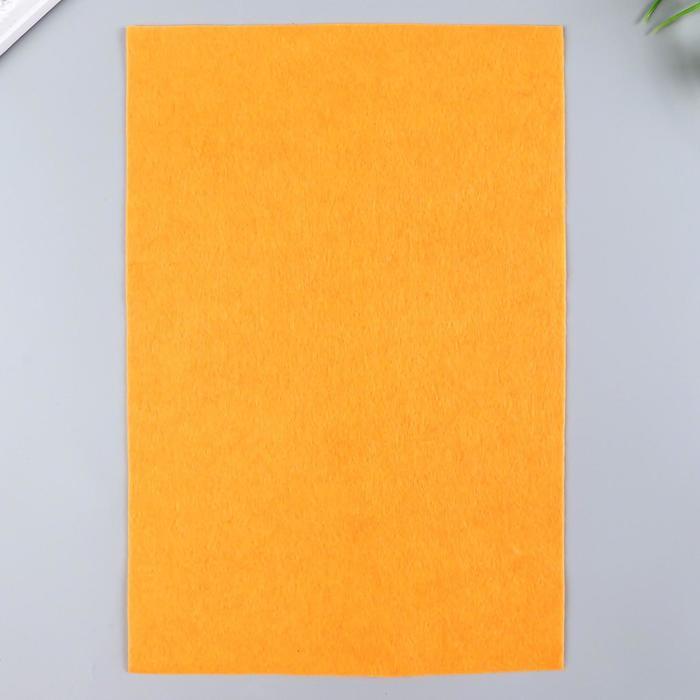 Фетр  мягкий  1 мм 20х30 см  бл.оранжевый микс