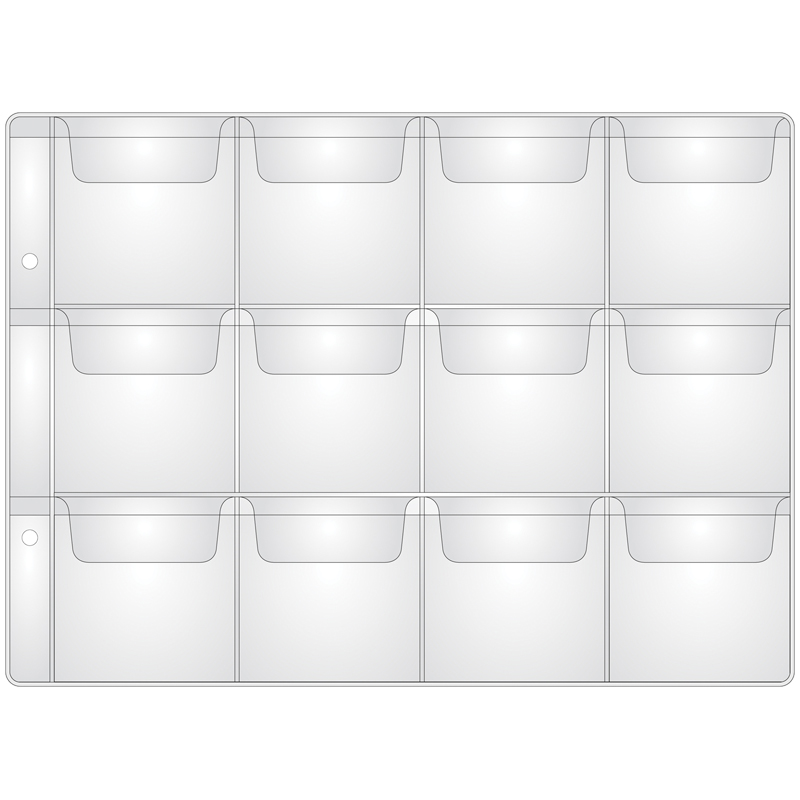 Лист OfficeSpace на 12 монет 50*53, горизонтальный, 120мкм