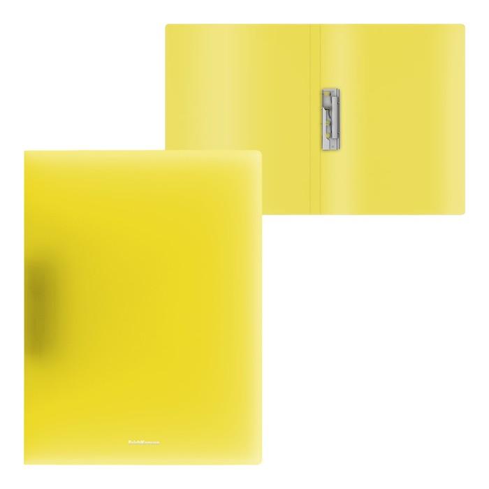 Папка с боковым зажимом А4, ErichKrause Neon, жёлтая