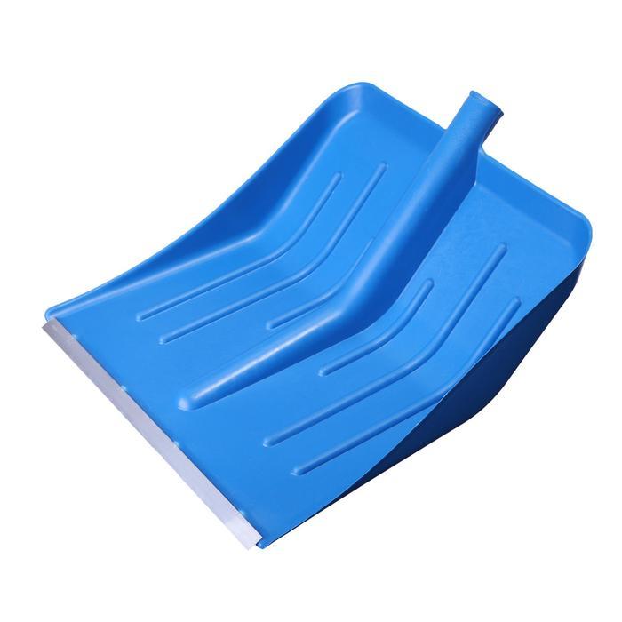 Ковш лопаты пластиковый, 430 ? 440 мм, с алюминиевой планкой, тулейка 32 мм, «Метелица»