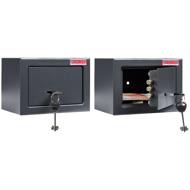 Сейф мебельный Aiko T-140 KL (ключ/замок), Н0 класс взломостойкости