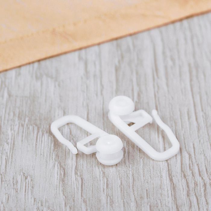 Крючок для штор, роликовый, 25 ? 10 мм, цвет белый