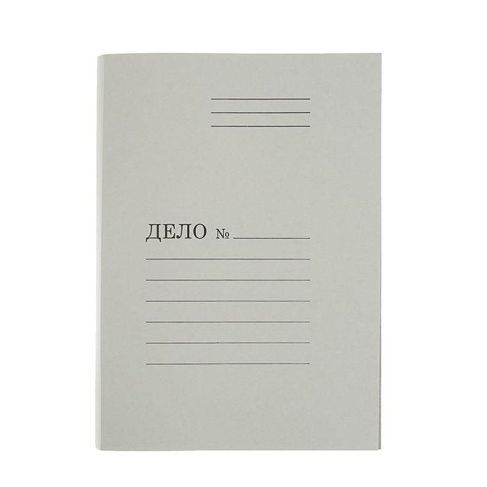 """Папка-обложка """"Дело"""", плотность 390г/м2 , белая, мелованный картон"""