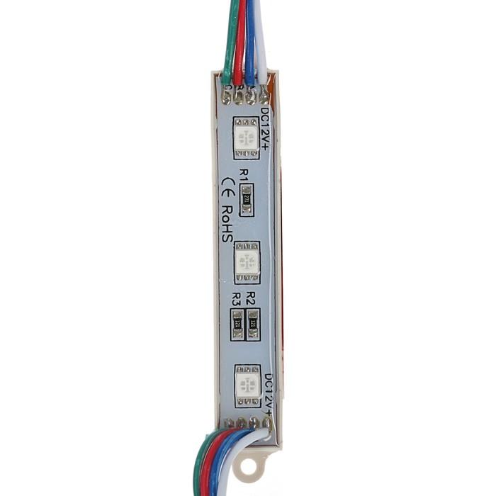 Светодиодный модуль SMD5050, 3 LED, 15 Lm/1LED, 1W/модуль, IP65, RGB