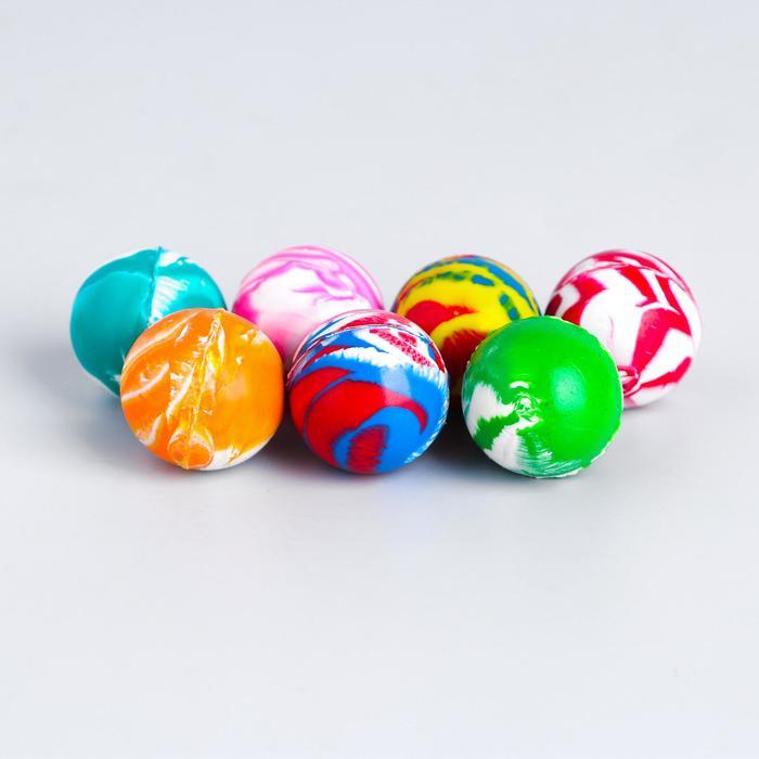 Мяч каучуковый «Блеск», 2,4 см, цвета МИКС
