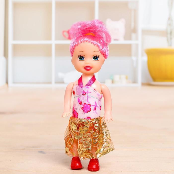 Кукла малышка «Кира» в платье, МИКС