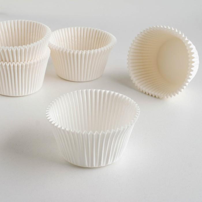 Форма для выпечки белая, 5,5 х 4,3 см