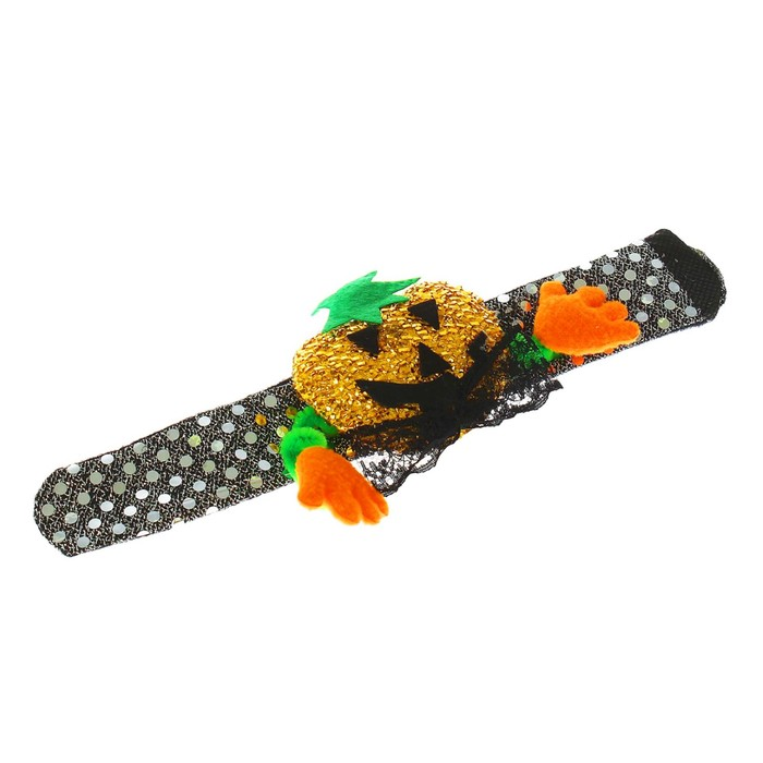 Карнавальный браслет «Тыква», с ручками