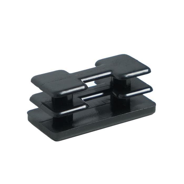 Заглушка внутренняя 20х40 универсальная, черная, плоская