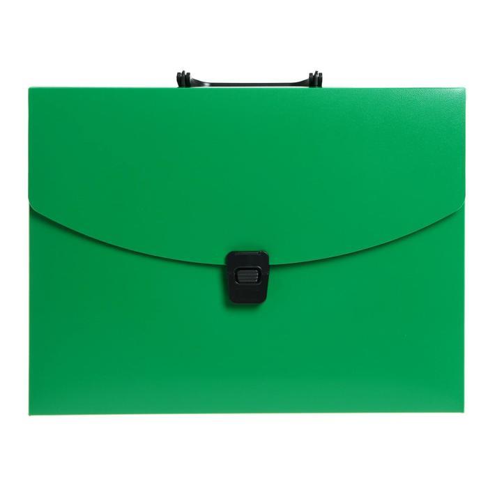 Папка-портфель А4 1отд Calligrata 700мкм, зеленая