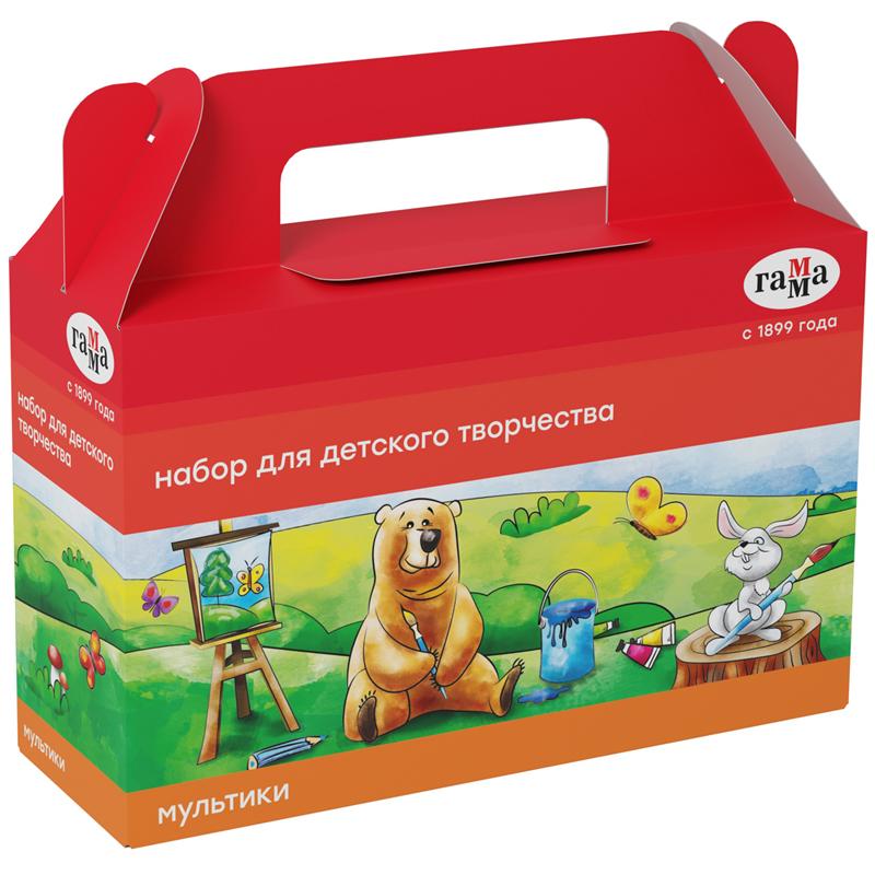 """Набор для детского творчества Гамма """"Мультики"""", 9 предметов, в подарочной коробке"""