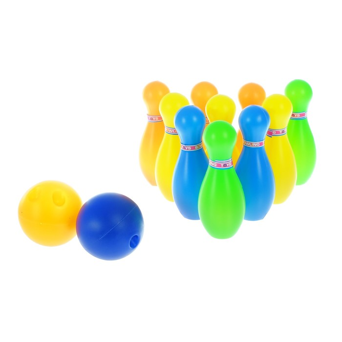 Набор игровой «Боулинг»: 10 кеглей (высота 11,5 см), 2 шара