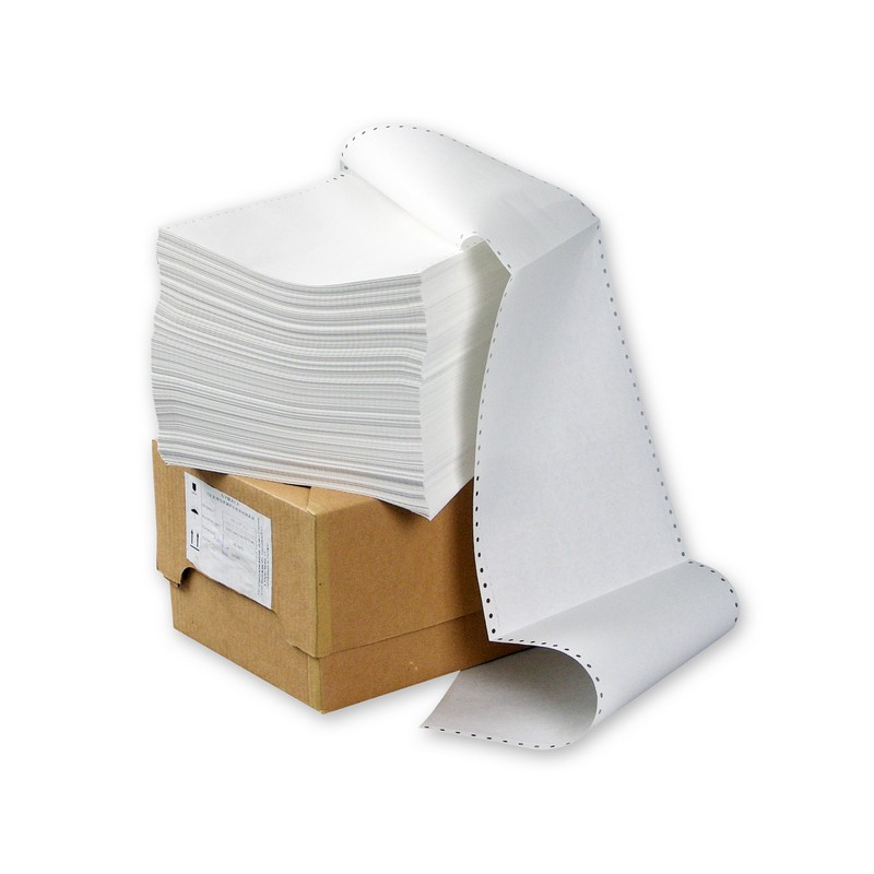Перфорированная бумага Promega 210мм 1-сл.,шаг12 ,бел.100%,НП, 2000л/уп