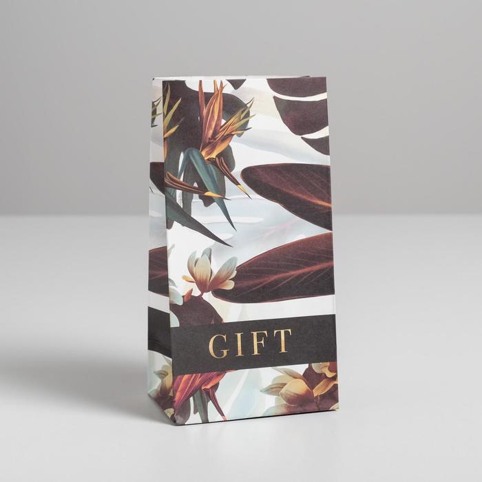 Пакет подарочный без ручек Gift, 10 ? 19.5 ? 7 см