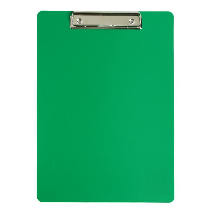 Планшет с зажимом А4, пластик, 1000мкм Calligrata зеленая