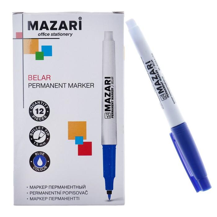 Маркер перманентный Mazari Belar, 1.5 мм, синий