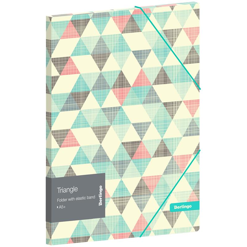"Папка для тетрадей на резинке Berlingo ""Triangle"" А5+, 600мкм, с рисунком"