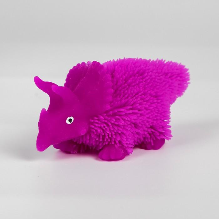 Ёжка резиновый «Динозаврик», световой, цвета МИКС