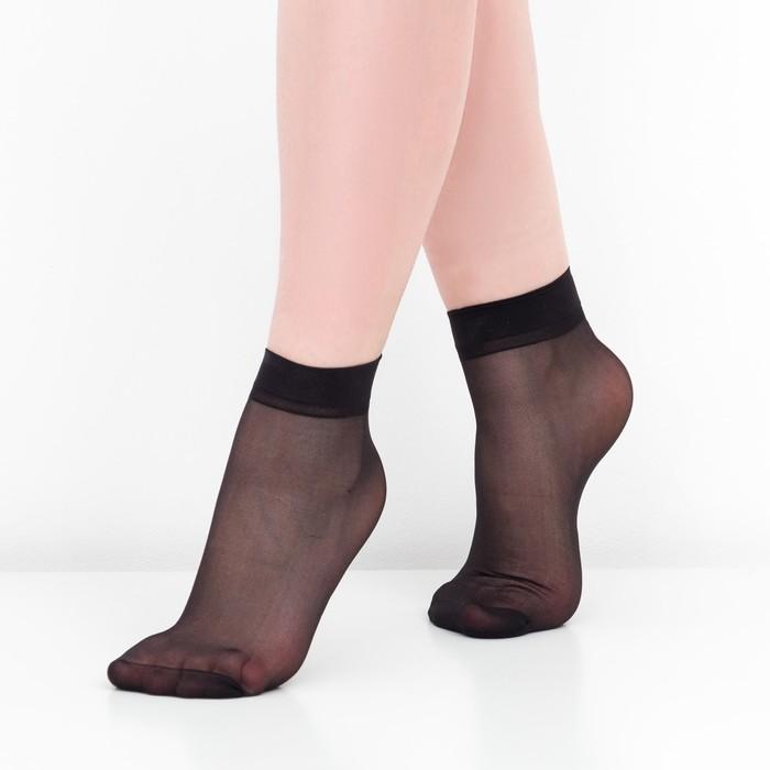 Носки женские, 30 ден, цвет чёрный, размер 36-40 (р-р 23-25)