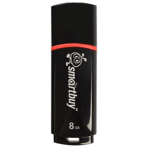Флеш-диск 8 GB, SMARTBUY Crown, USB 2.0, черный, SB8GBCRW-K