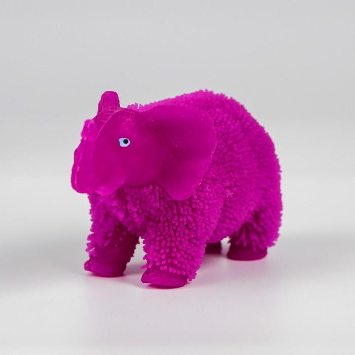 Ёжка «Слоник», резиновый, световой, цвета МИКС