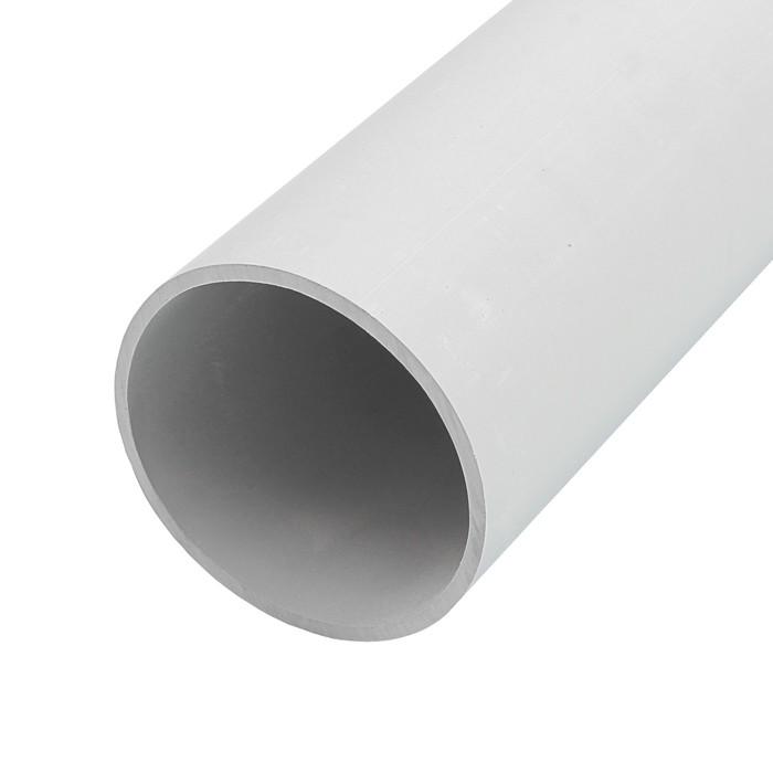 Труба жесткая T-plast, 50 мм, 2 м, серая, 55.02.006.0006,