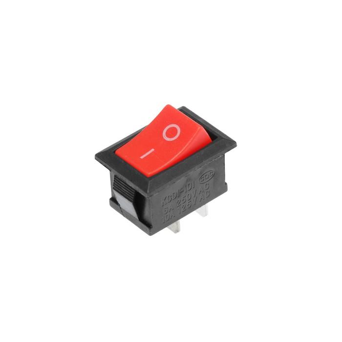 Клавишный выключатель, 250 В, 6 А, ON-OFF, 2c, красный