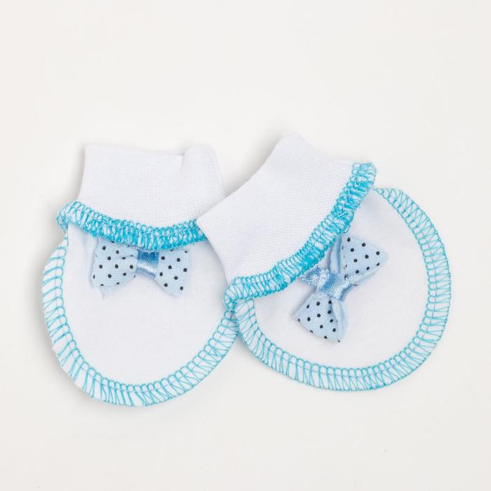 Царапки для мальчика, цвет белый/голубой