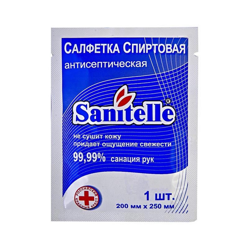 Салфетка антисептическая для рук Санитель 1 шт 0012-Е-С
