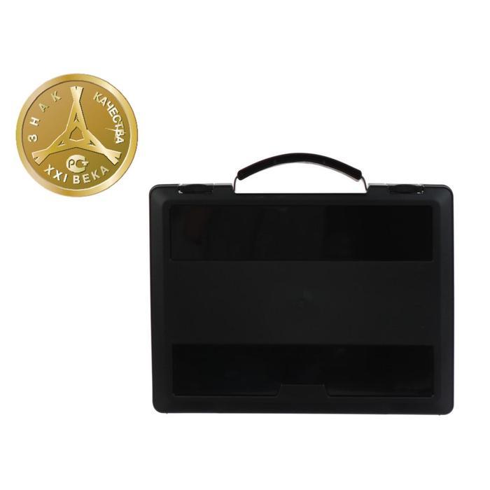 Портфель-кейс А4 с выдвижной ручкой, чёрный