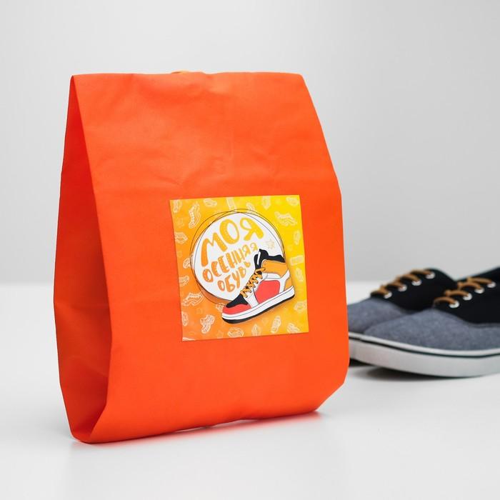 """Мешок для обуви """"Моя осенняя обувь""""  Для мальчика"""