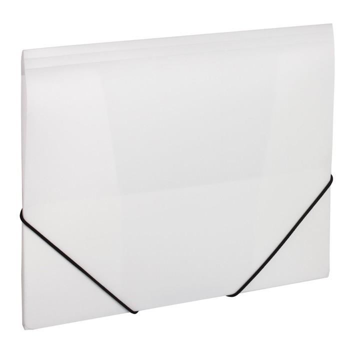 Папка на резинке А4, 500 мкм, BRAUBERG Office, белая