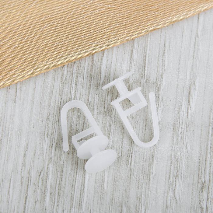 Крючок для штор, гвоздик с замком, 27 ? 11 мм, цвет белый