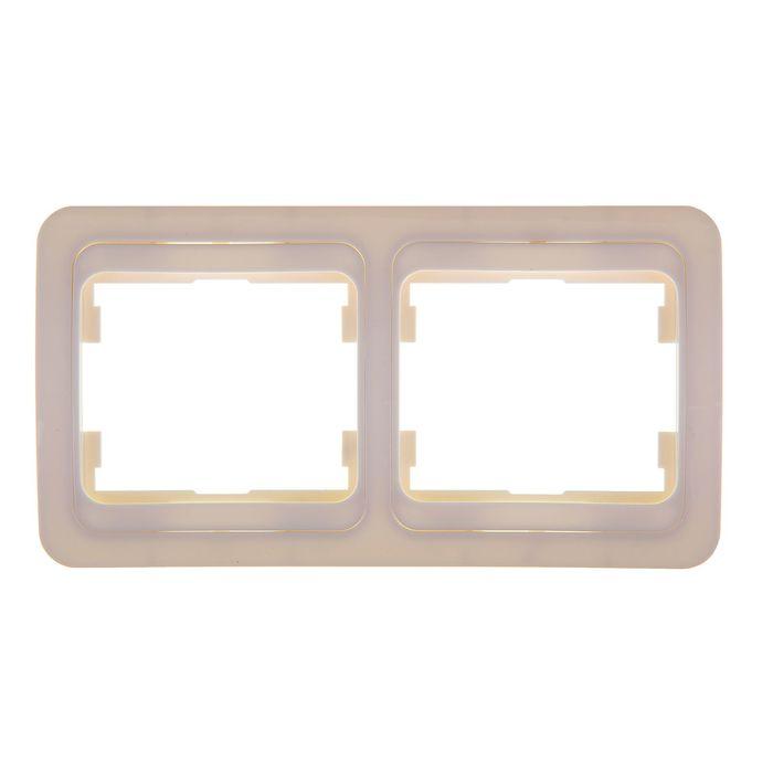 Рамка POWERMAN Classic 2302H, двухместная, горизонтальная, белая