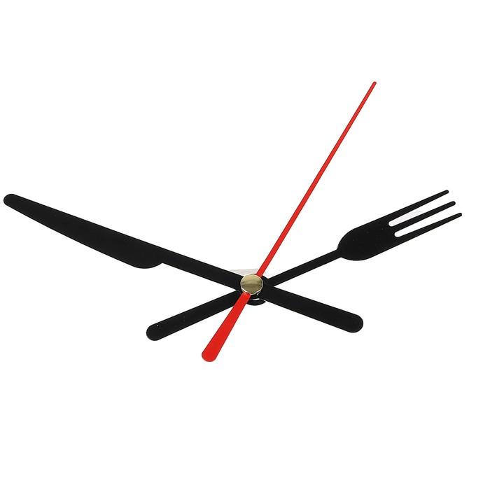 Комплект из 3-х стрелок для часов черные вилка нож 58/72 (671) (фасовка 100 наборов)