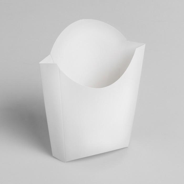 Упаковка для картофеля фри, большая, 200 г, без печати