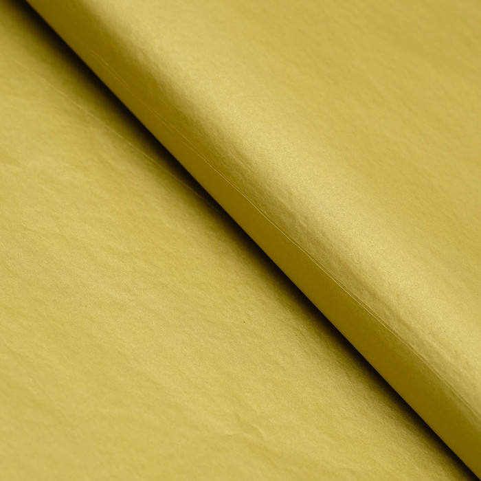 Бумага цветная, Тишью (шёлковая), 510 х 760 мм, Sadipal, 1 лист, 17 г/м2, золотистый