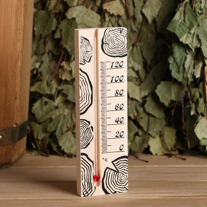 Термометр для бани, жидкостный, 165х50х15мм